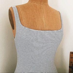 Zara Striped Bodycon Tank Dress